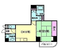 大阪府豊中市服部本町1の賃貸マンションの間取り