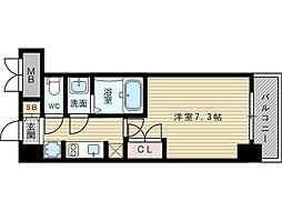 S−RESIDENCE新大阪駅前[14階]の間取り