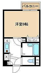 神奈川県川崎市高津区溝口3丁目の賃貸マンションの間取り