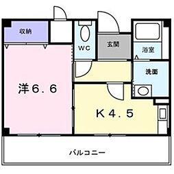 大阪府堺市中区毛穴町の賃貸マンションの間取り