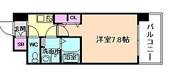 大阪府大阪市北区中崎西2丁目の賃貸マンションの間取り