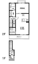 サンハイム麦野[2階]の間取り