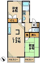 神奈川県川崎市麻生区片平1丁目の賃貸アパートの間取り