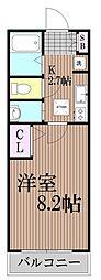 東京都大田区蒲田2丁目の賃貸マンションの間取り
