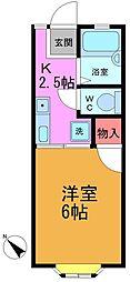 千葉県市川市真間1の賃貸アパートの間取り