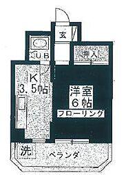マンション輝[2階]の間取り