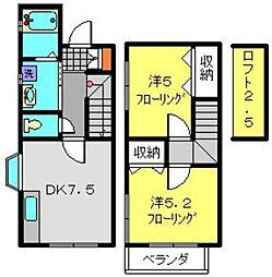[テラスハウス] 神奈川県横浜市保土ケ谷区仏向町 の賃貸【/】の間取り