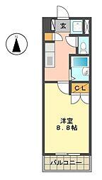 KII-OKASAN B(オカサンビル)[403号室]の間取り