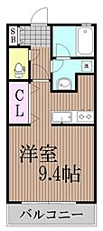 東京都大田区南馬込6丁目の賃貸アパートの間取り