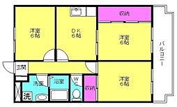 兵庫県神戸市西区竜が岡1丁目の賃貸マンションの間取り
