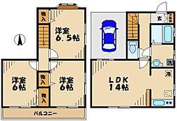 [テラスハウス] 東京都八王子市大塚 の賃貸【/】の間取り