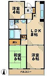 東京都多摩市唐木田1丁目の賃貸マンションの間取り