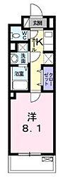 JR総武線 小岩駅 徒歩22分の賃貸マンション 2階1Kの間取り