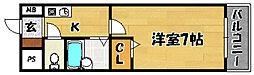 阪急京都本線 上新庄駅 徒歩12分の賃貸マンション 9階1Kの間取り