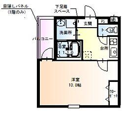 JR阪和線 百舌鳥駅 徒歩9分の賃貸アパート 3階1Kの間取り