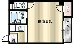 パインハイツ新大阪[2階]の間取り