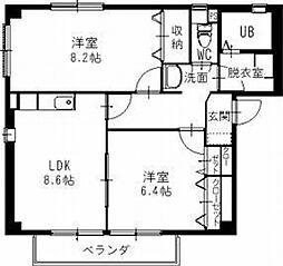 愛知県一宮市今伊勢町本神戸字下町の賃貸アパートの間取り