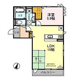 ルナピエーナA棟[2階]の間取り