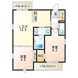 (仮称)平野区加美正覚寺ヘーベルメゾン[3階]の間取り