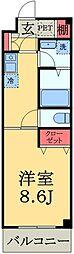 千葉県市原市ちはら台東9丁目の賃貸マンションの間取り