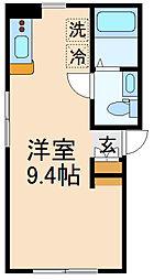 (仮称)世田谷区千歳台3丁目計画 4階ワンルームの間取り