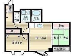 ヴェリテ江坂[3階]の間取り