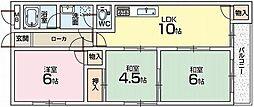 サンローズマンション[2階]の間取り