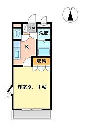 愛知県日進市米野木町油田の賃貸アパートの間取り
