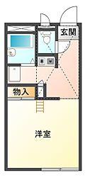 愛知県豊川市御油町一ノ坪の賃貸アパートの間取り