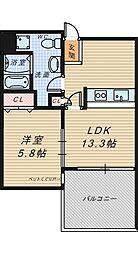 ラ・サンテ[4階]の間取り