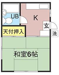 内藤荘[101号室]の間取り