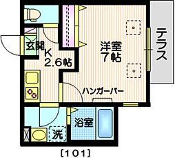 MYC HOUSE 1階1Kの間取り