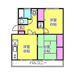 レスポアール大倉山[103号室]の間取り