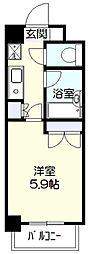 神奈川県川崎市宮前区鷺沼3丁目の賃貸マンションの間取り