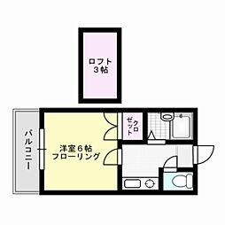 諸岡B[2階]の間取り