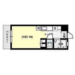シティベール松山[2階]の間取り