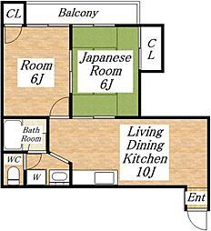 吉本マンション[4階]の間取り