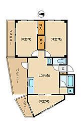 ビアンカ佐藤 3階3LDKの間取り