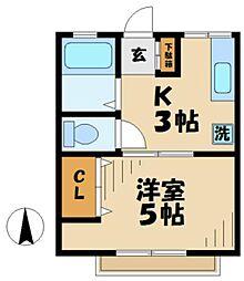 シティハイムSUGAMI1[1階]の間取り