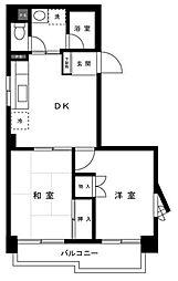 梶ヶ谷リベール[5階]の間取り