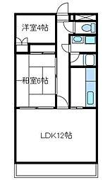神奈川県厚木市恩名1丁目の賃貸マンションの間取り