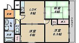 松岡ビル北花田[2階]の間取り