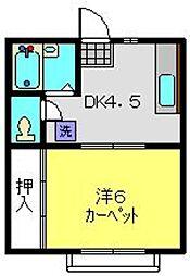 ウッディー6[2階]の間取り
