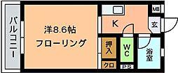 オーシャン5[202号室]の間取り