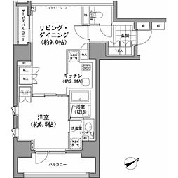 東京都中央区八丁堀3丁目の賃貸マンションの間取り