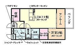 ピープルコート3号館[1階]の間取り