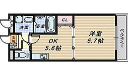 大仙パークサイド[1階]の間取り