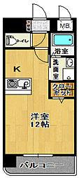 セレーノ・II 2階ワンルームの間取り
