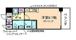 エヴァステージ梅田WEST[5階]の間取り