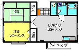 久保田ハイツ[301号室]の間取り